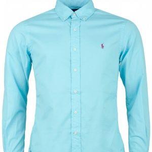 Ralph Lauren LS Featherweight Twill Shirt Blue NEW